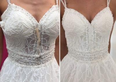 Brautkleid Näherei