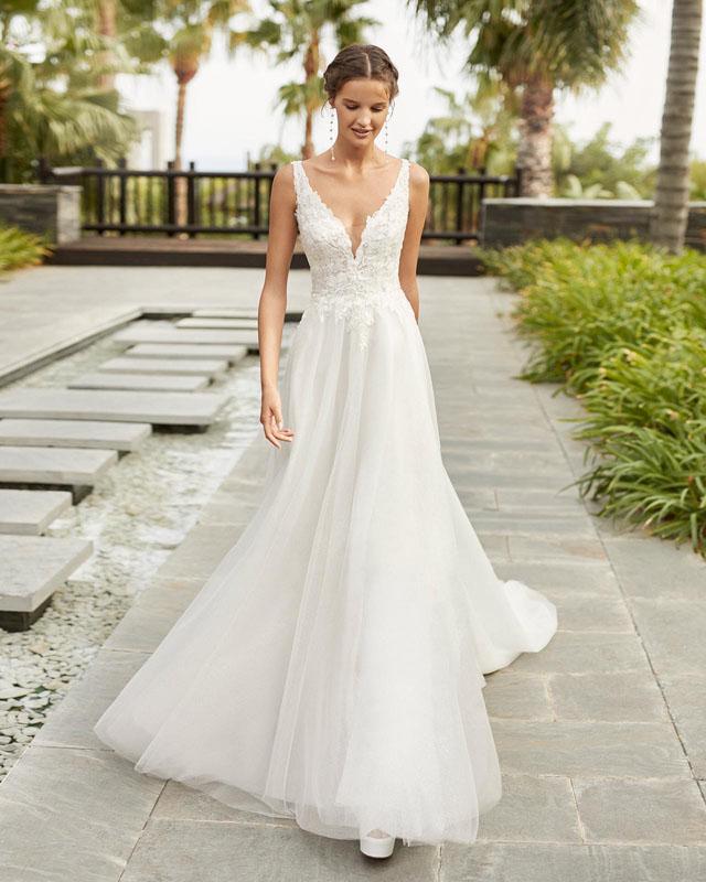 A-Linie Hochzeitskleid Presca