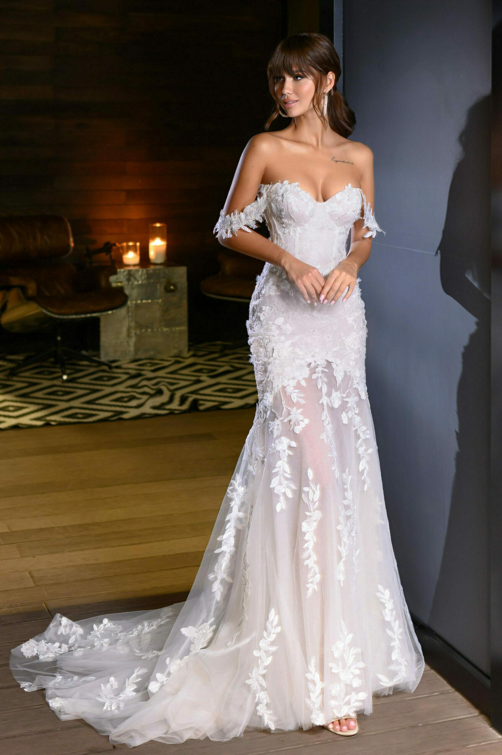Fit and Flare Hochzeitskleid
